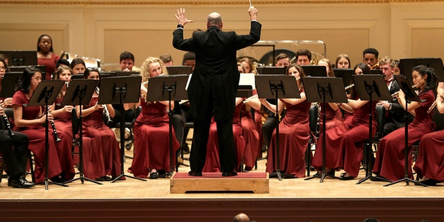 Members of the Marjory Stoneman Douglas High School band — the school's elite wind symphony — traveled to New York City to perform at Carnegie Hall.