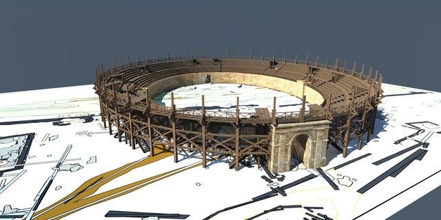 Newly discovered wooden amphitheater – visualization based on geophysical data interpretation (LBI ArchPro, 7reasons).
