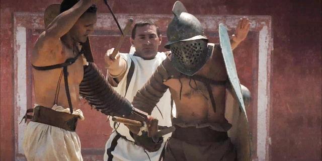 Footage of gladiatorial games at Carnuntum (LBI ArchPro, 7reasons).