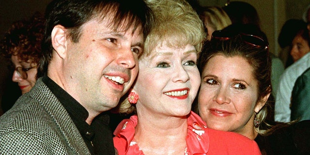 From left to right: Todd Fisher, Debbie Reynolds and Carrie Fisher.