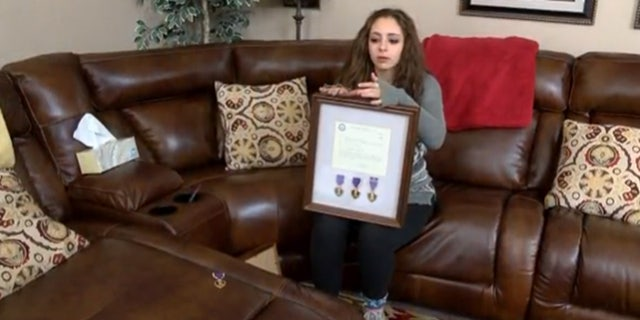 Casey Bruno said her father received three Purple Hearts from his time served in the Vietnam War as a Marine, but the family discovered a fourth medal that didn't belong to him.