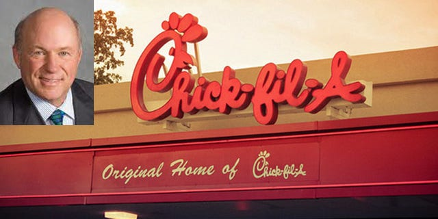 """Chick-fil-A president Dan Cathy says he is """"guilty as charged"""" for supporting the traditional definition of marriage, and now Chicago Mayor Rahm Emanuel says its """"values aren't reflective of our city."""" (AP)"""