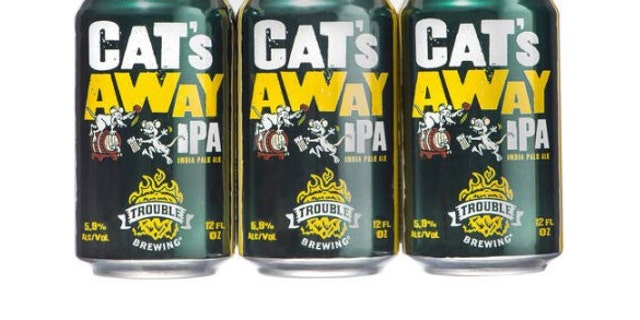 Walmart's Cat's Away IPA is one of four offerings from Trouble Brewing.