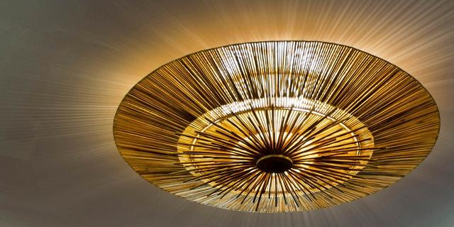 Lighting fixture on the ceiling, handmade lighting fixture