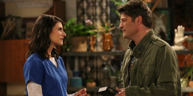"""""""Living Biblically"""" features Jay R. Ferguson, left, as Chip, who decides to live his life in accordance with the Bible."""