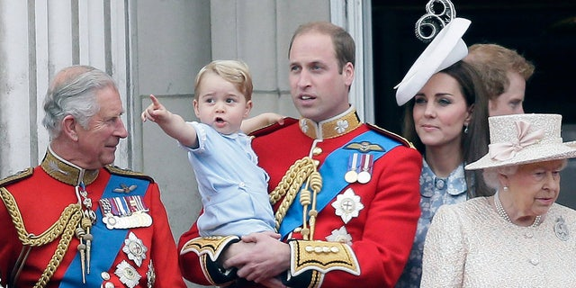 Prince George stole the show during the Trooping the Colour parade at Buckingham Palace in 2015.