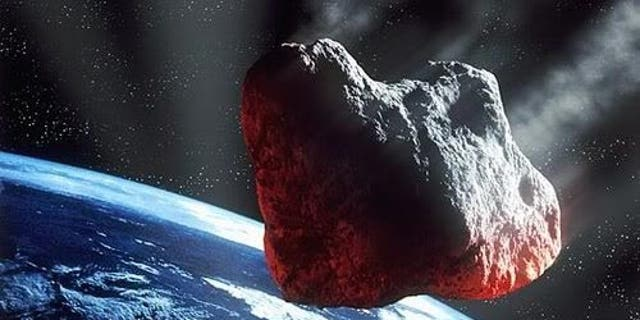 File image - an artist's illustration of a large asteroid.