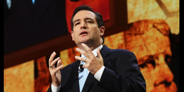 TAMPA, FL - AUGUST 28:  Senate Republican Candidate, Texas Solicitor General Ted Cruz speaks during the Republican National Convention at the Tampa Bay Times Forum on August 28, 2012 in Tampa, Florida. Today is the first full session of the RNC after the start was delayed due to Tropical Storm Isaac.  (Photo by Spencer Platt/Getty Images)