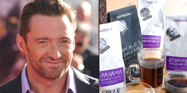 A variety of products from Hugh Jackman's Laughing Man Coffee & Tea company.