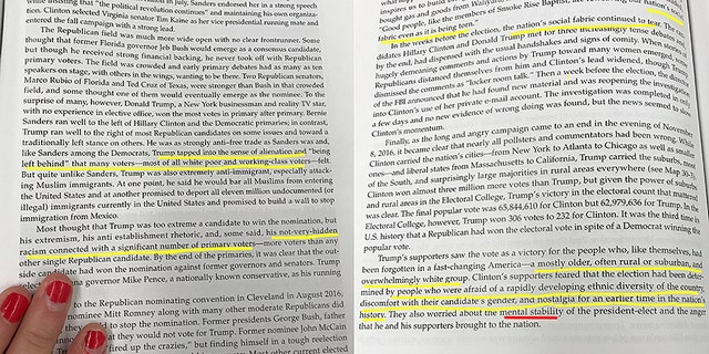 "A new AP history textbook that covers the 2016 election is coming under fire for being ""blatantly biased"" against Trump and his supporters."