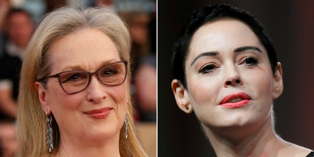 Meryl Streep defended herself after Rose McGowan criticized her in a tweet Saturday.
