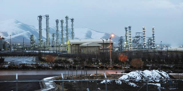 FILE - This Jan. 15, 2011 file photo shows Iran's heavy water nuclear facilities near the central city of Arak 150 miles (250 kilometers) southwest of Tehran. Two diplomats told The Associated Press on Monday, Nov. 21, 2016, that Iran has begun to export excess quantities of heavy water, which can be used in the process to make atomic arms, as Tehran moves to end a small but significant violation of a landmark nuclear deal. (Hamid Foroutan, ISNA, File via AP)