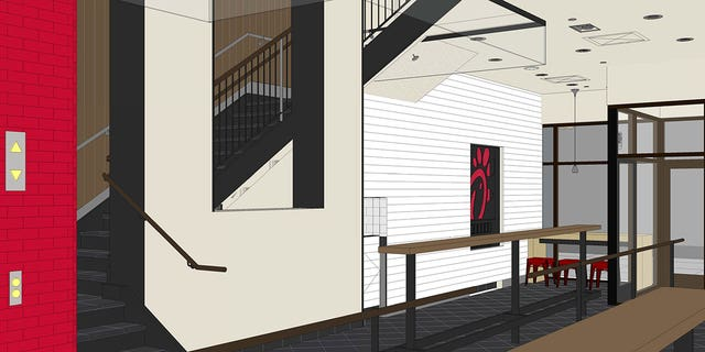 """The restaurant's """"monumental"""" staircase will span four levels and feature a skylight overhead."""