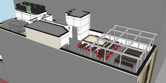 """The restaurant """"will offer unimpeded views of the Freedom Tower"""" from the rooftop dining area, Chick-fil-A says."""