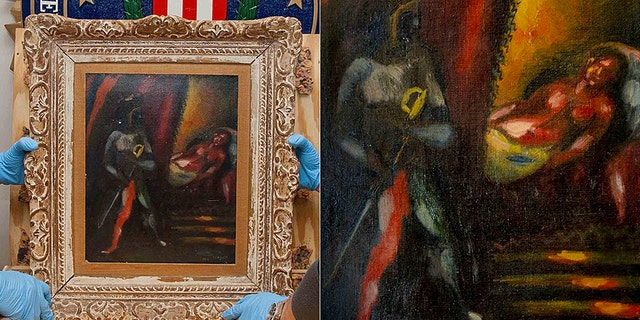 """A Marc Chagall painting, """"Othello and Desdemona,"""" was stolen from a Manhattan couple's home nearly 30 years ago."""