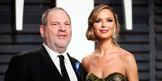 Harvey Weinstein and his fashion designer wife Georgina Chapman, who said Tuesday she is leaving her husband.