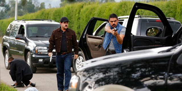 At the time filming started, Guzman was still in Mexico and the series' location was shifted for security reasons, said producer Daniel Posada.
