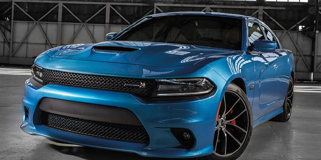 Four Dodge Charger sedans were stolen in the heist.