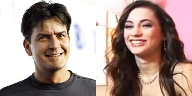 Charlie Sheen and Georgia Jones.