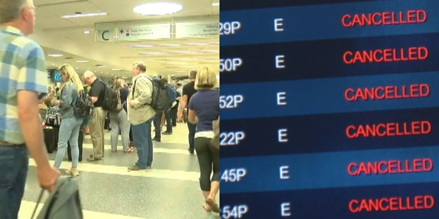 PSA Airlines, a regional carrier for American, had already canceled 275 of its scheduled flights on Thursday and 400 more on Friday.