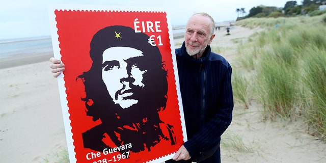 Dublin artist Jim Fitzpatrick, who produced the Che Guevara image that Ireland's Post Office put on a new stamp marking the 50th anniversary of the revolutionary's death.