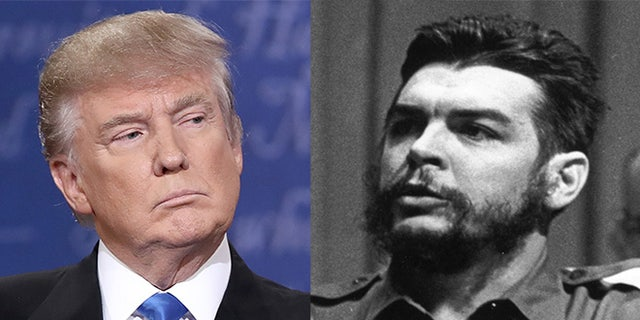 Donald Trump, left; Che Guevara, right.
