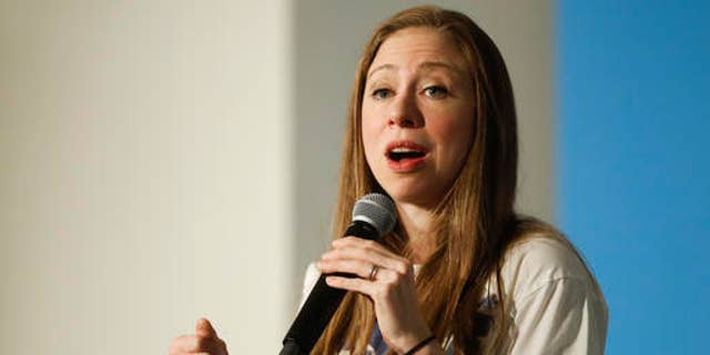 Chelsea Clinton campaigns for her mother, Democratic presidential candidate Hillary Clinton, at the Transcept, Wednesday, Oct. 26, 2016, in Cincinnati. (AP Photo/John Minchillo)