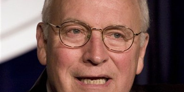 In this Oct. 21, 2009, file photo, former Vice President Dick Cheney speaks at the Center for Security Policy dinner at Union Station in Washington.