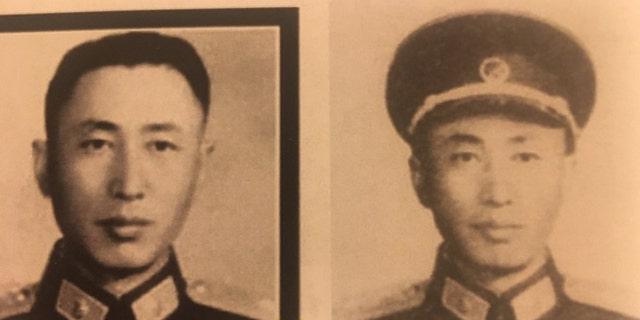 Undated photos of Yanping Chen's father, Gen. Chen Bin.
