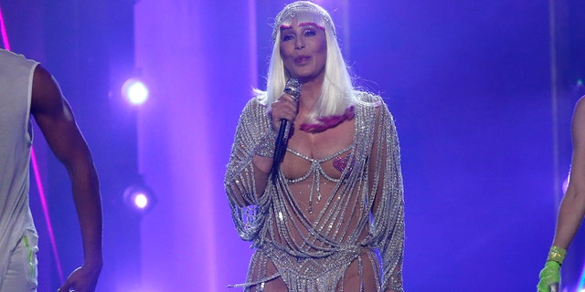 Cher performs at the 2017 Billboard Music Awards.