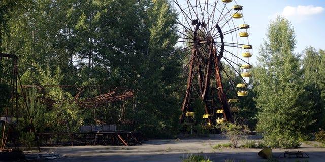 Fairground at abandoned Pripyat