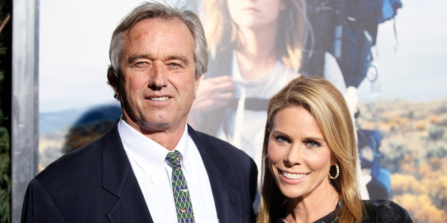 Left, Robert F. Kennedy Jr. with wife, right, Cheryl Hines.