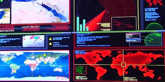 Inside the complex, workers analyze surveillance systems all across the world, and in space, and send the data to decision makers at the Pentagon to assess threats and determine how to deal with them.