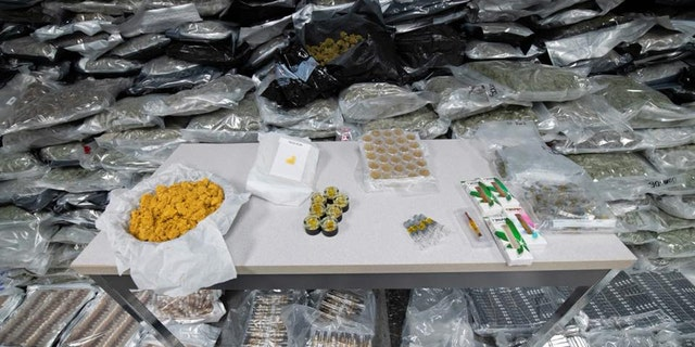 The marijuana was from California on its way to Chicago, according to police.