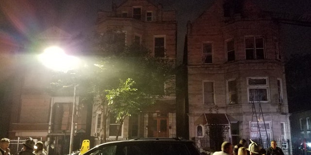 A Chicago firefighter was injured battling the blaze, and was taken to the hospital in good condition, officials said.