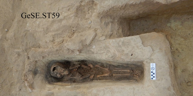 A rock-hewn child grave at Gebel el Silsila, dubbed 'ST59' by archaeologists (Copyright: Gebel el Silsila Project)