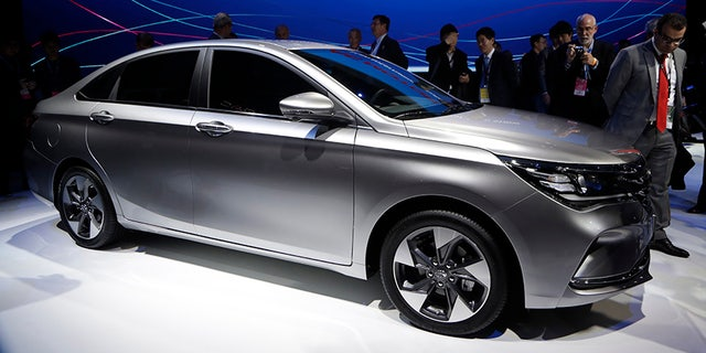A more conventional gas-powered sedan will be its first offering for the American market.