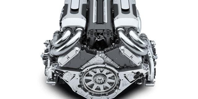 The Bugatti Chiron's W16