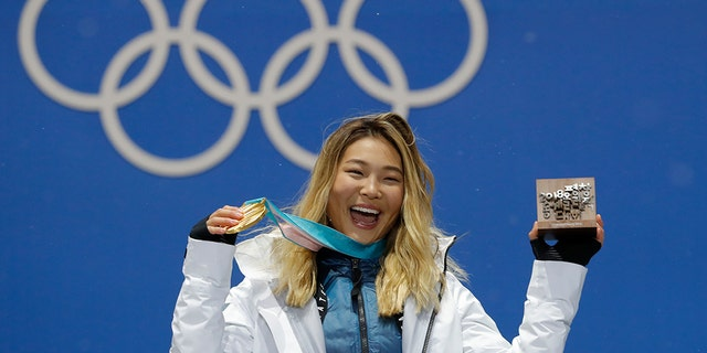 Kim took home the gold medal in the women's halfpipe event at the 2018 Olympic Games in South Korea.