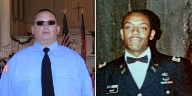 Sgt. Chris Monica, left, and Sgt. Curtis Billue were killed by the inmates early Tuesday.