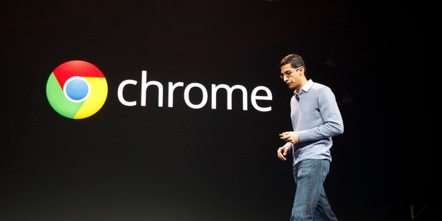 File photo: Sundar Pichai, former senior vice president of Google Chrome and current Google CEO, speaks during Google I/O Conference at Moscone Center in San Francisco, California June 28, 2012. (REUTERS/Stephen Lam)