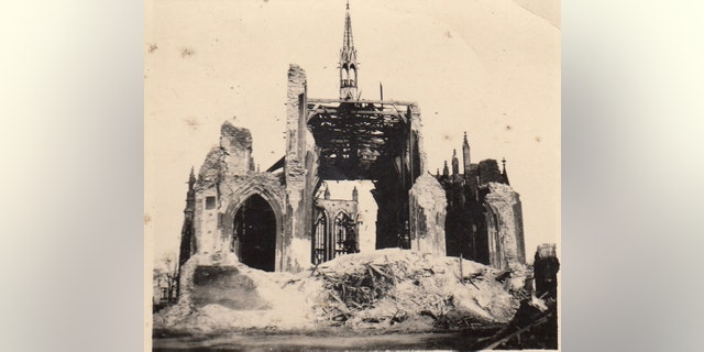 The archive of more than 100 photos includes images of battle-scarred sites in Northern Europe (Henry Aldridge & Son)