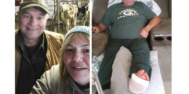 Dale and his wife, Karen, are pictured above. Dale is recovering from foot surgery.