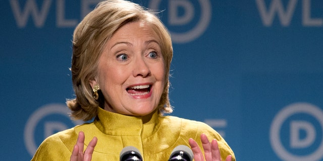 Sept. 19, 2014:  former Secretary of State Hillary Rodham Clinton speaks in Washington.