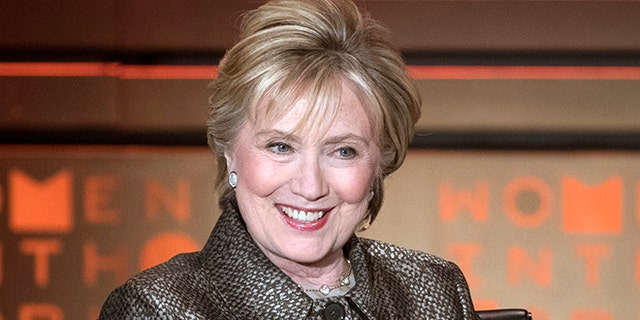 FILE - In this April 6, 2017 file photo, former Secretary of State Hillary Clinton speaks during the Women in the World Summit in New York. In a candid and pointed new book, Clinton relives her stunning defeat to Donald Trump, admitting to personal mistakes and defending campaign strategy even as her return to the stage refocuses attention on a race Democrats still can't believe they lost. (AP Photo/Mary Altaffer, File)