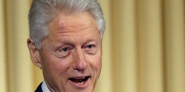 July 17, 2013: Former President Bill Clinton is shown speaking in Washington.
