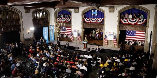 Sept. 19, 2016: Hillary Clinton speaks at Temple University in Philadelphia.