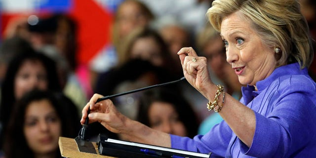 Aug 10, 2015: Democratic presidential candidate Hillary Clinton announces her college affordability plan at Exeter High School, N.H. (AP)