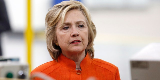Aug 18, 2015: Democratic presidential candidate Hillary Rodham Clinton tours the Carpenters International Training Center in Las Vegas. (AP)