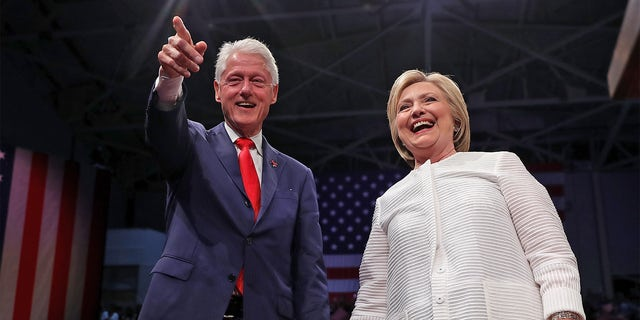 Bill and Hillary Clinton during the 2016 election.